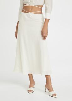 Jonathan Simkhai Shiloh Solid Strap Detail Skirt
