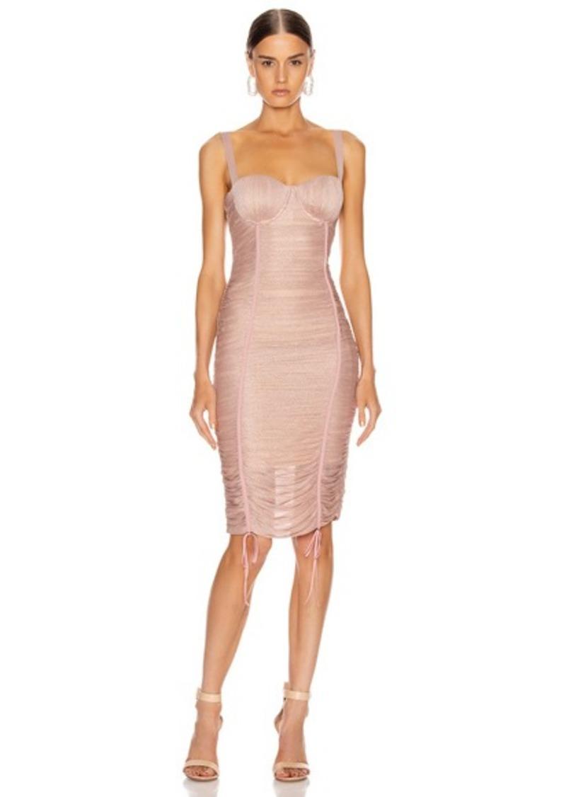 JONATHAN SIMKHAI Shimmer Balconette Dress