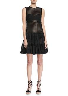 Jonathan Simkhai Sleeveless Knit Combo Fit-and-Flare Dress
