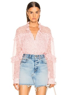 JONATHAN SIMKHAI Speckle Print Buttoned Top
