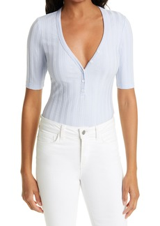 Jonathan Simkhai Standard Connie V-Neck Henley Bodysuit