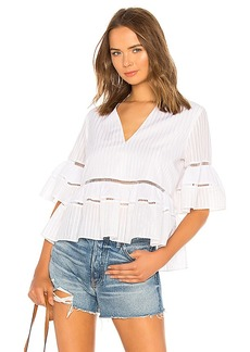 JONATHAN SIMKHAI Striped Tiered Top