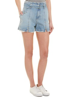 Jonathan Simkhai Sunfaded Indigo High-Waist Short