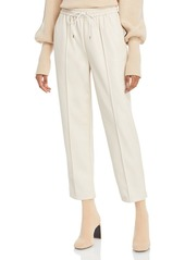 Jonathan Simkhai Tay Vegan Leather Cropped Jogger Pants