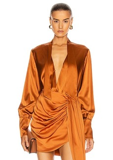JONATHAN SIMKHAI Tess Wrap Front Bodysuit