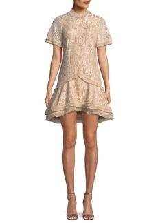 Jonathan Simkhai Tower Mesh Mini Cocktail Dress
