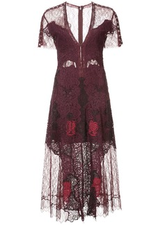 Jonathan Simkhai V-neck lace dress - Red
