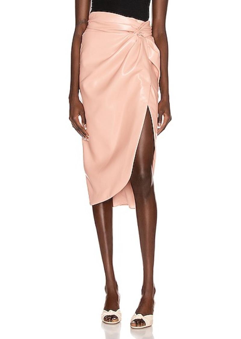 JONATHAN SIMKHAI Vegan Leather Twist Skirt