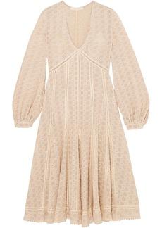 Jonathan Simkhai Woman Broderie Anglaise Cotton-blend Gauze Midi Dress Ecru