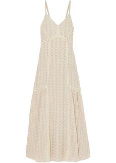 Jonathan Simkhai Woman Crocheted Cotton-blend Gauze Maxi Dress Ivory