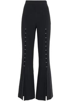 Jonathan Simkhai Woman Embellished Stretch-crepe Flared Pants Black