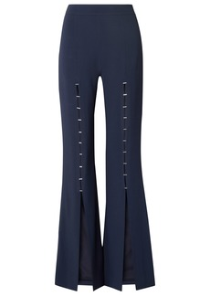 Jonathan Simkhai Woman Embellished Stretch-crepe Flared Pants Navy
