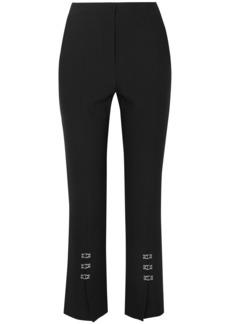 Jonathan Simkhai Woman Hook-detailed Cady Straight-leg Pants Black