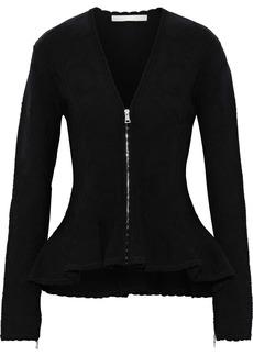 Jonathan Simkhai Woman Jacquard-knit Peplum Top Black