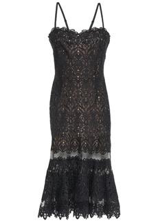 Jonathan Simkhai Woman Paneled Tulle And Guipure Lace Dress Black