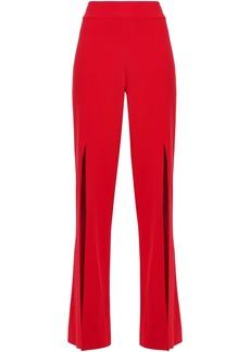 Jonathan Simkhai Woman Split-front Crepe Straight-leg Pants Red