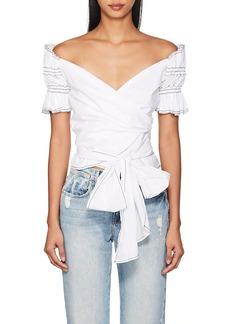Jonathan Simkhai Women's Off-The-Shoulder Cotton Wrap Top