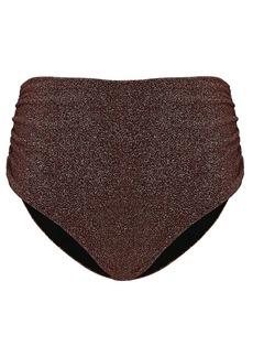 Jonathan Simkhai Jules Metallic Ruched Bikini Bottoms
