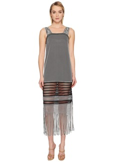 Jonathan Simkhai Knit Fringe Maxi Dress Cover-Up