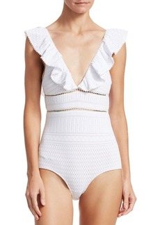 Jonathan Simkhai Lace One-Piece Swimsuit