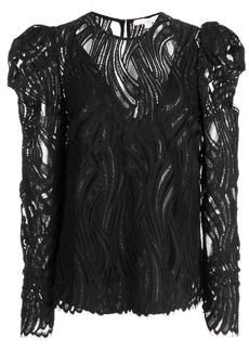 Jonathan Simkhai lace structured shoulder top
