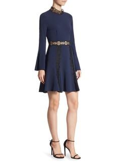 Jonathan Simkhai Lace-Trimmed Mockneck Dress