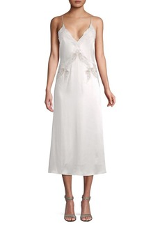 Jonathan Simkhai Lace-Trimmed Slip Dress