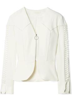 Jonathan Simkhai Lace-up crepe peplum jacket