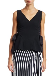 Jonathan Simkhai Lace-Up Crepe Top