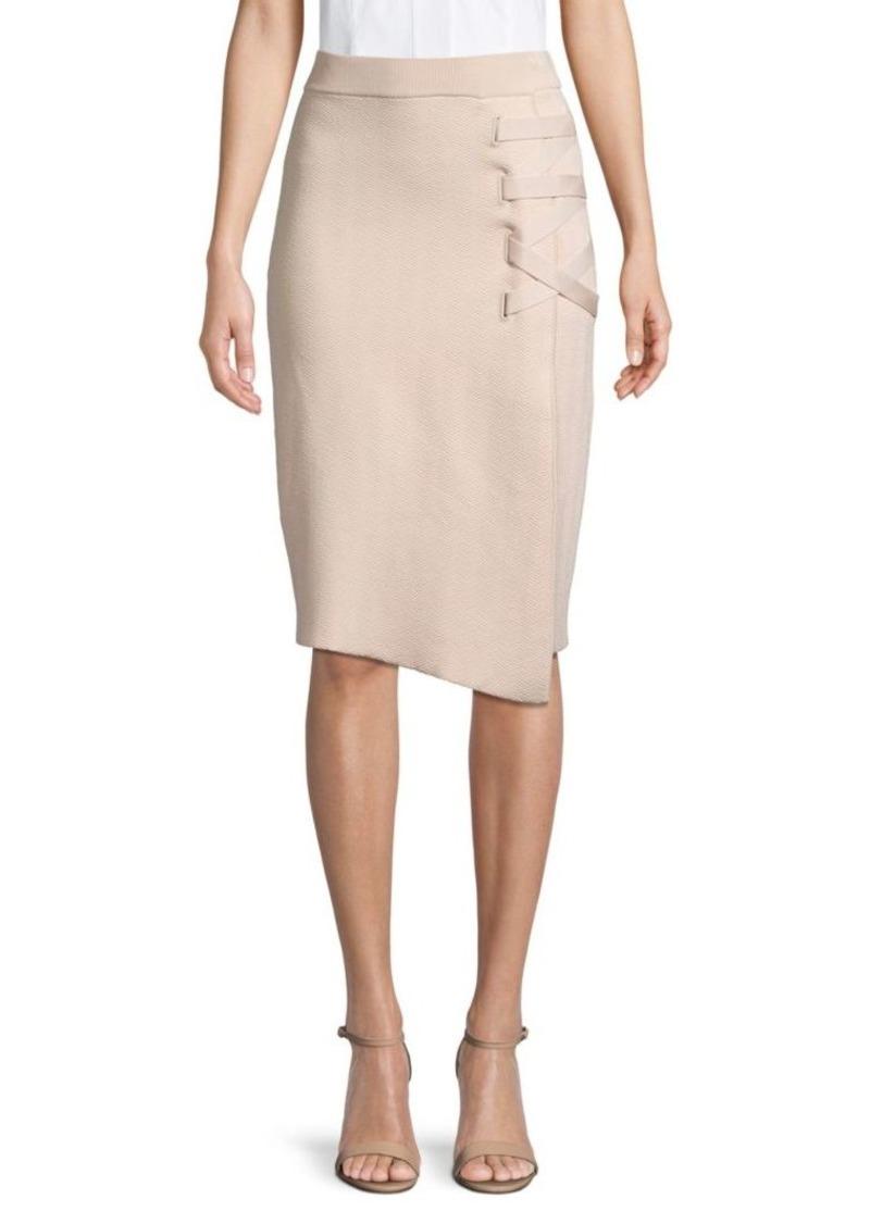 Jonathan Simkhai Lace-Up Jacquard Skirt