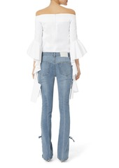 d665e920966 On Sale today! Jonathan Simkhai Lace-Up Stovepipe Blue Jeans