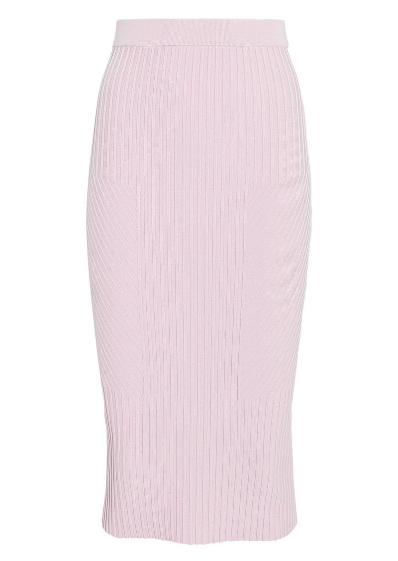 Jonathan Simkhai Lavender Rib Knit Pencil Skirt