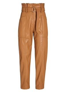 Jonathan Simkhai Leela Vegan Leather Paperbag Pants
