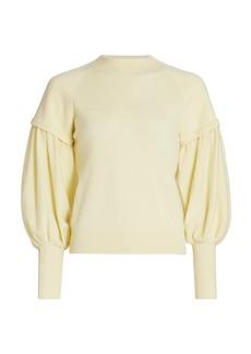 Jonathan Simkhai Mackenzie Puff-Sleeve Cashmere Sweater