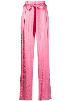 Jonathan Simkhai Mariana Moire jacquard trousers