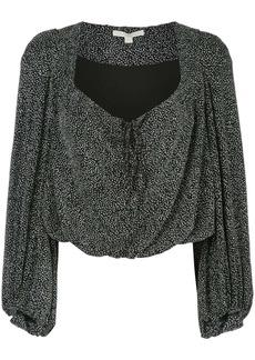 Jonathan Simkhai metallic draped blouse