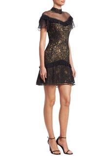 Jonathan Simkhai Mixed Lace Mini Dress