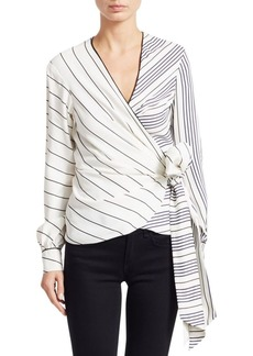 Jonathan Simkhai Multi-Stripe Wrap Top