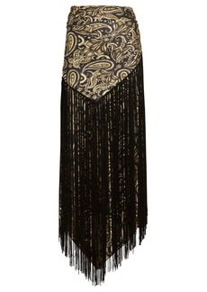 Jonathan Simkhai Nala Fringed Paisley Handkerchief Skirt