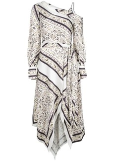 Jonathan Simkhai off-the-shoulder scarf print dress