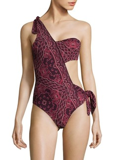 Jonathan Simkhai One-Piece Bandana Cotton Swimsuit