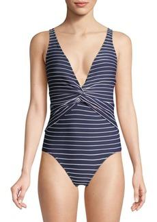 Jonathan Simkhai One-Piece Striped Swimsuit