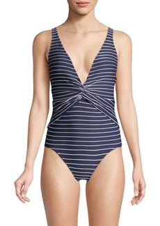 Jonathan Simkhai One-Piece Striped Swimsuit