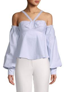 Jonathan Simkhai Pinstriped Cotton Top