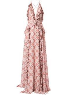 Jonathan Simkhai pleated ruffle details dress