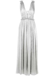 Jonathan Simkhai plissé open neck maxi dress