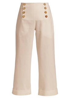 Jonathan Simkhai Quinn Linen Stretch Sailor Pants