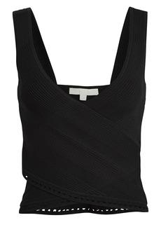 Jonathan Simkhai Rib Knit Crossover Tank Top