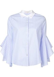 Jonathan Simkhai ruffle-sleeve striped shirt