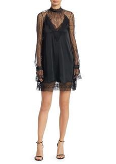 Jonathan Simkhai Satin and Lace Mini Dress